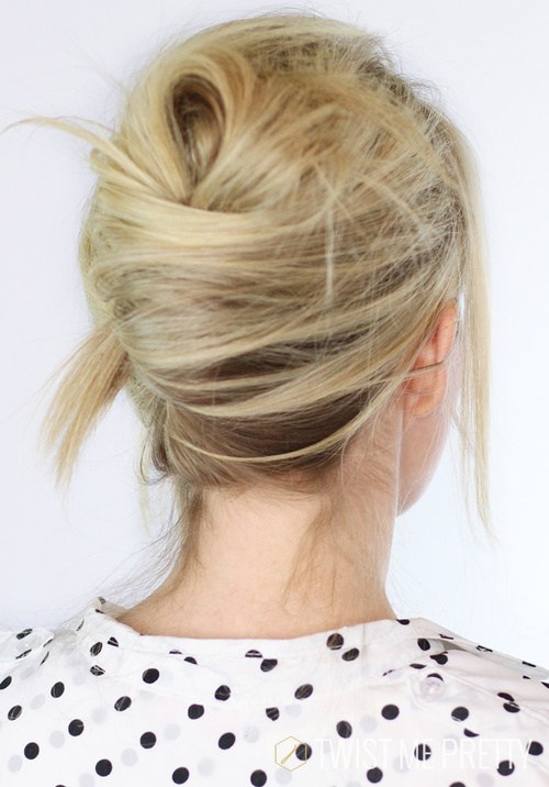 21 messy casual french twist