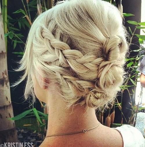 21 quick braid and bun
