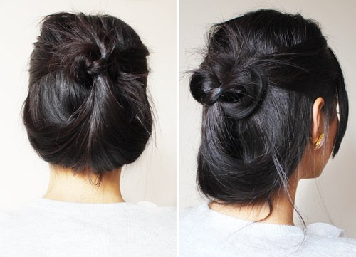 22 quick casual updo for long hair