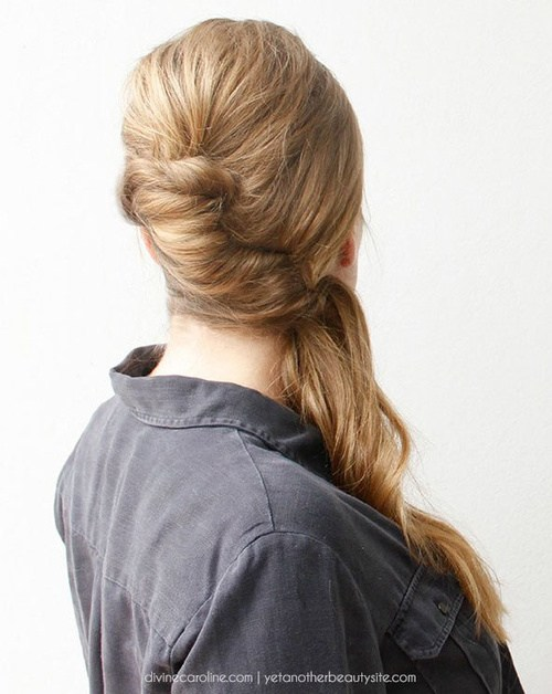 23 retro inspired side ponytail updo