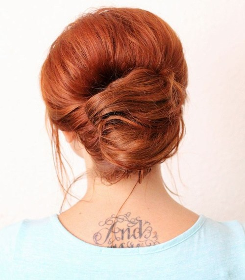 24 everyday french twist updo with texture and volume