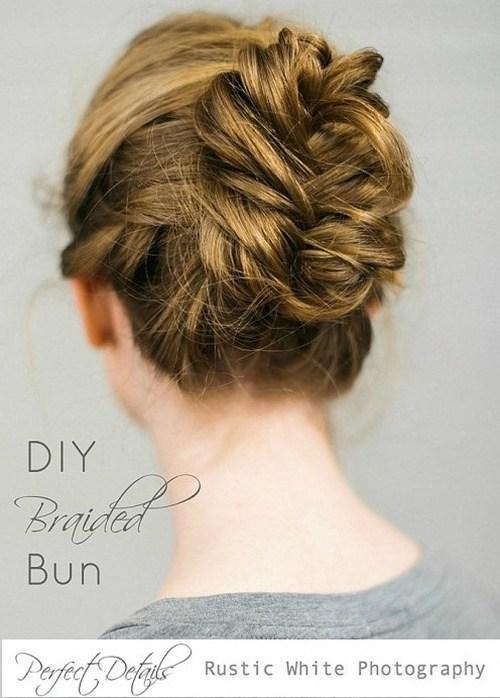 25 braided bun