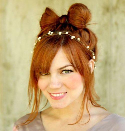 25 cute girly hair bow updo