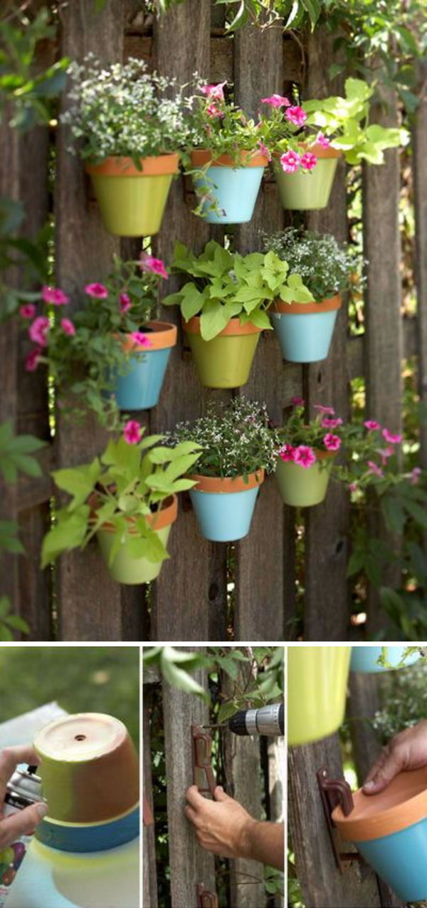 26  Hanging Flower Pots Vertical Garden
