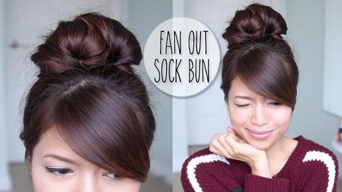 26 fan out sock bun