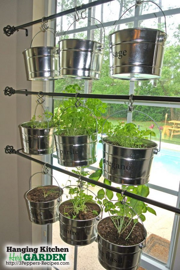 27 DIY Hanging Kitchen Herb Garden