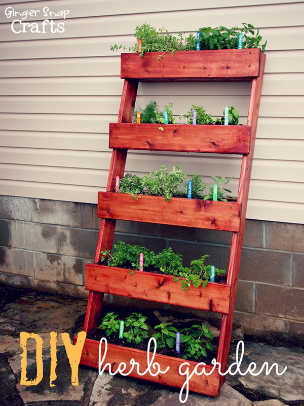 29 DIY Leaning Bookshelf Vertical Garden