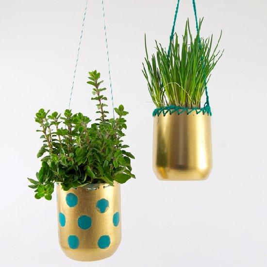 29 Make hanging plant-pots out of plastic bottles