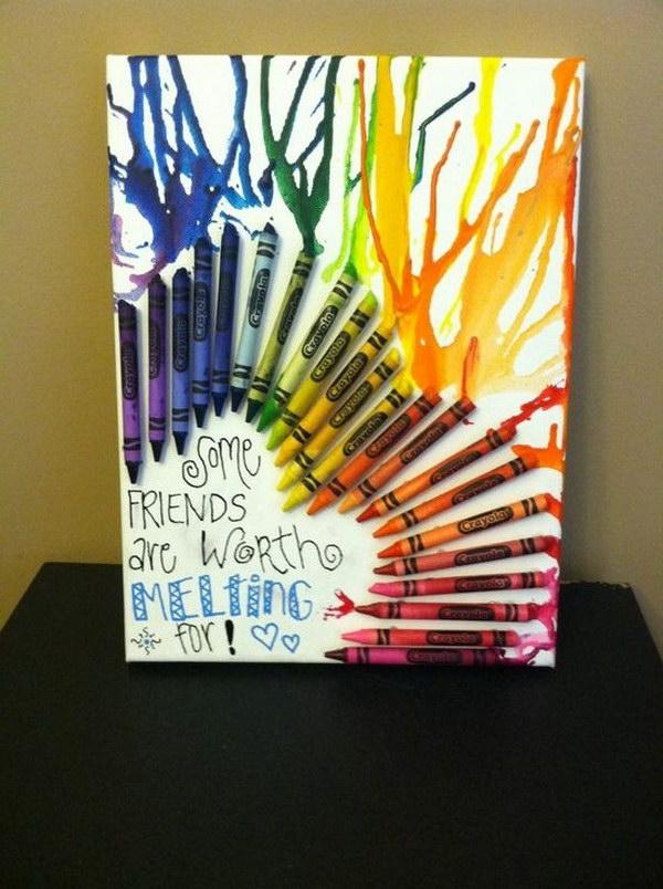 3 Melted Crayon Art