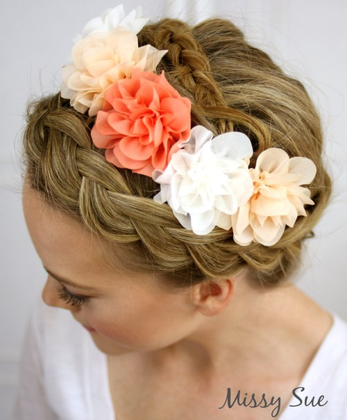 3 flower crown braid