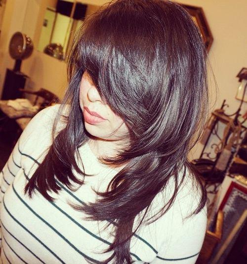 31 dark brown layered hairstyle