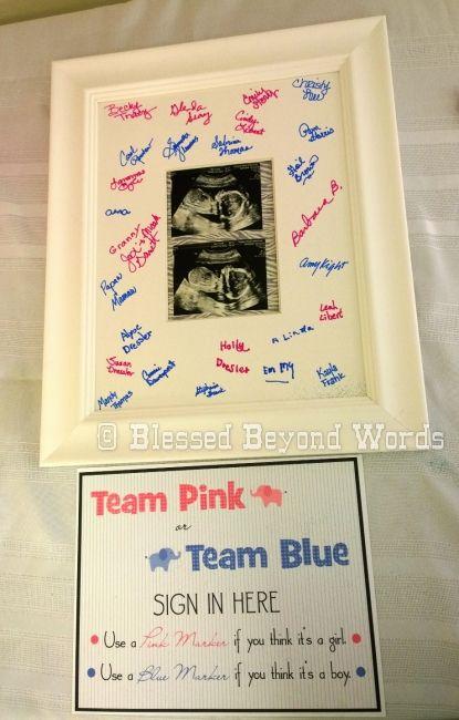 32 Team Pink or Team Blue Gender Reveal Idea
