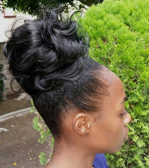 how to make a messy bun with layered hair