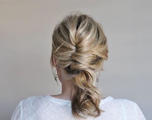 36 undone french twist updo hairstyle