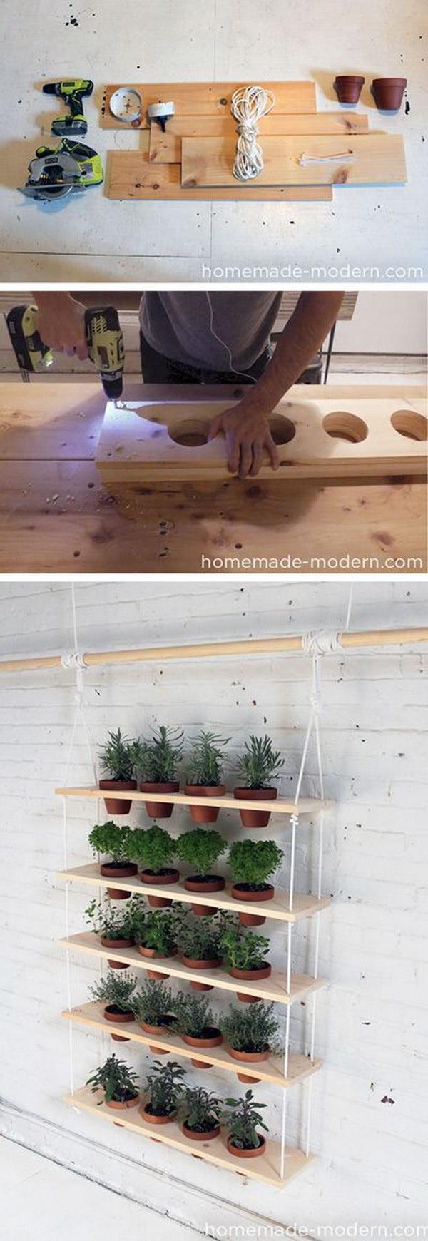 4 DIY Hanging Herb Garden