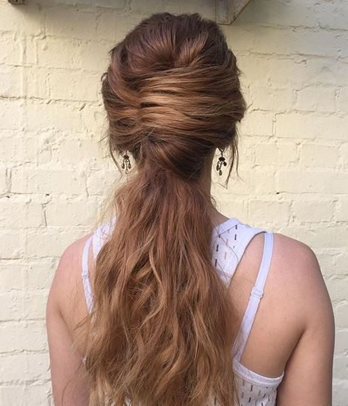 4 french twist with a long pony