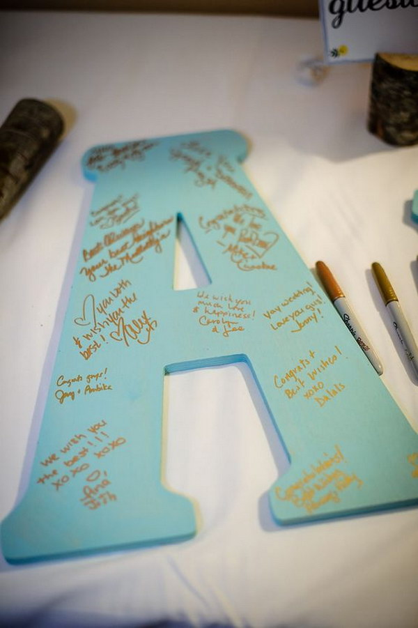 5 DIY Wooden Initial Guest Book. Baby Showers Are All About Fun ...