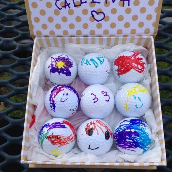 6 Custom Golf Balls for Dad