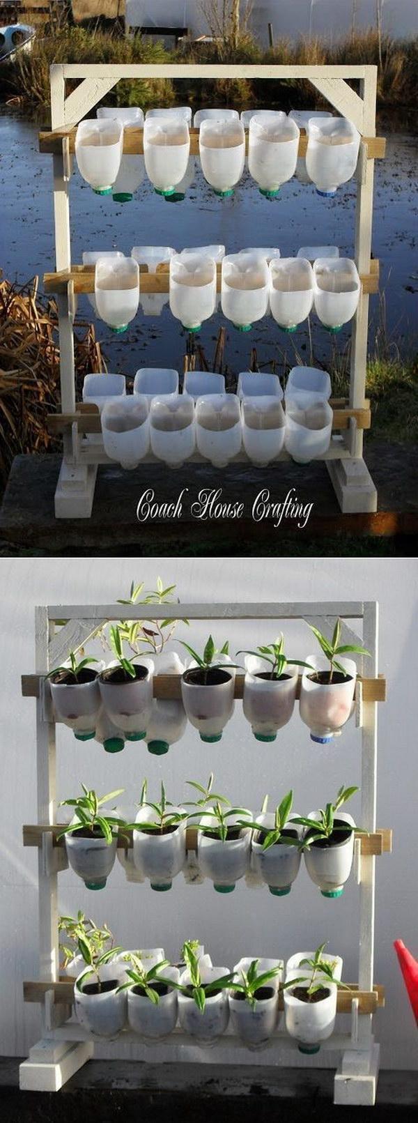 6 DIY Vertical Garden Using Plastic Milk Bottles
