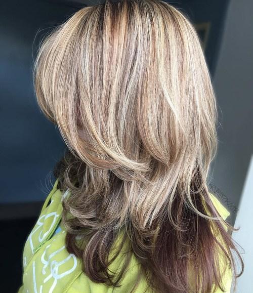6 blonde layered balayage hair