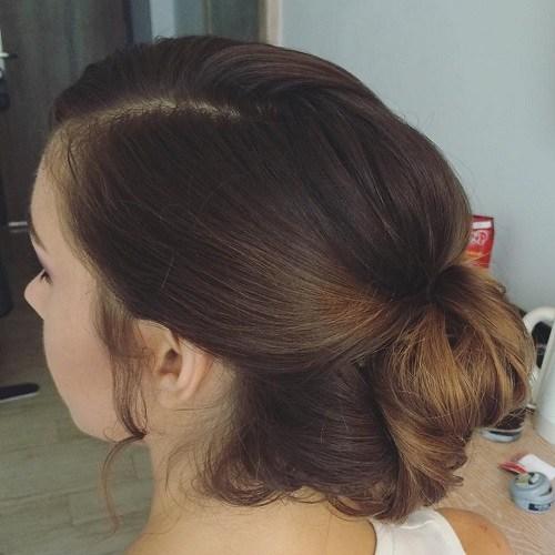 6 loose bun updo for long hair