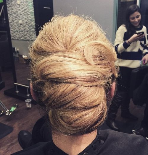 6 threetiered french twist updo
