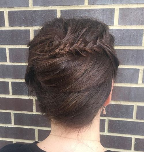 7 french twist with a braid
