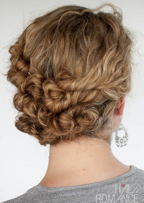 8 easy twist and pin updo for curly hair
