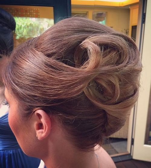 8 formal french twist updo