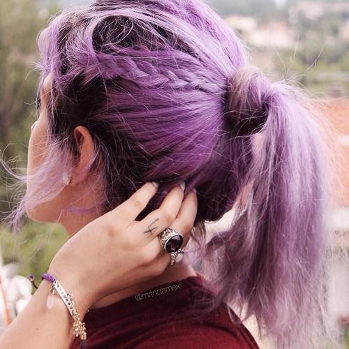 8 pastel purple ponytail