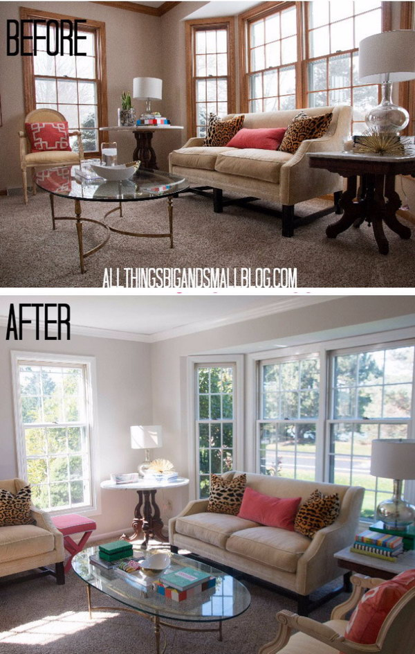 9 Living Room Makeover with Playful Colors