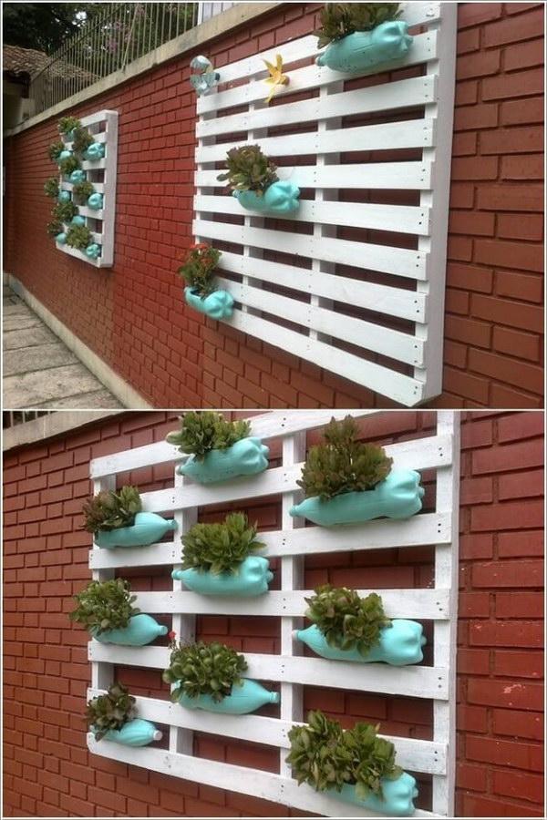 9 Plastic Bottle Made Vertical Garden