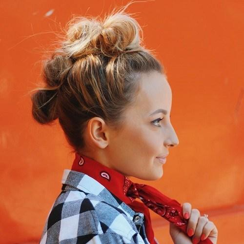 9 bun mohawk hairstyle