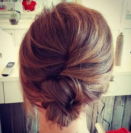 9 casual french twist for medium hair