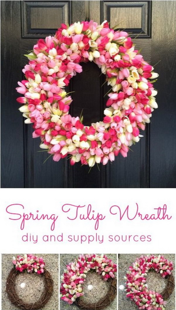 1 Awesome DIY Spring Tulip Wreath