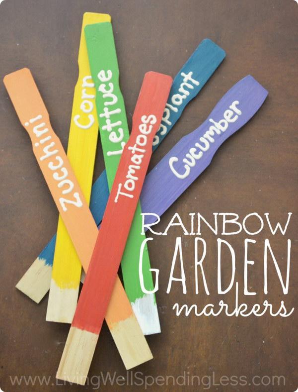 1 DIY Rainbow Garden Markers