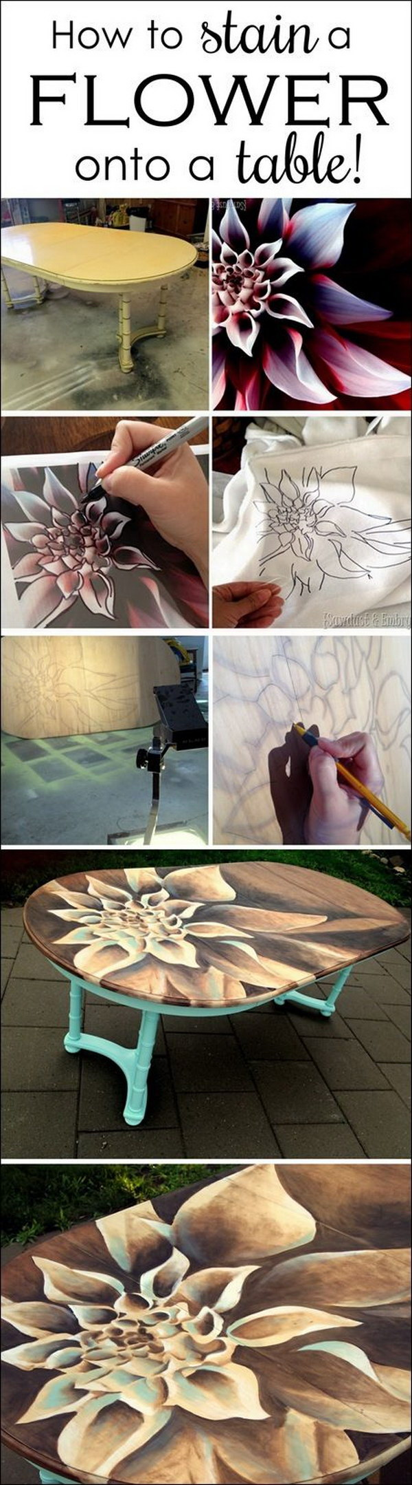 1 Dahlia Stained Artwork On Dining Table