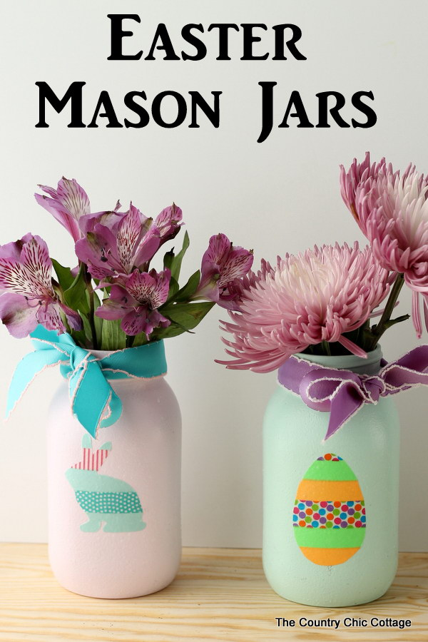 1 Easter Mason Jars with Washi Tape