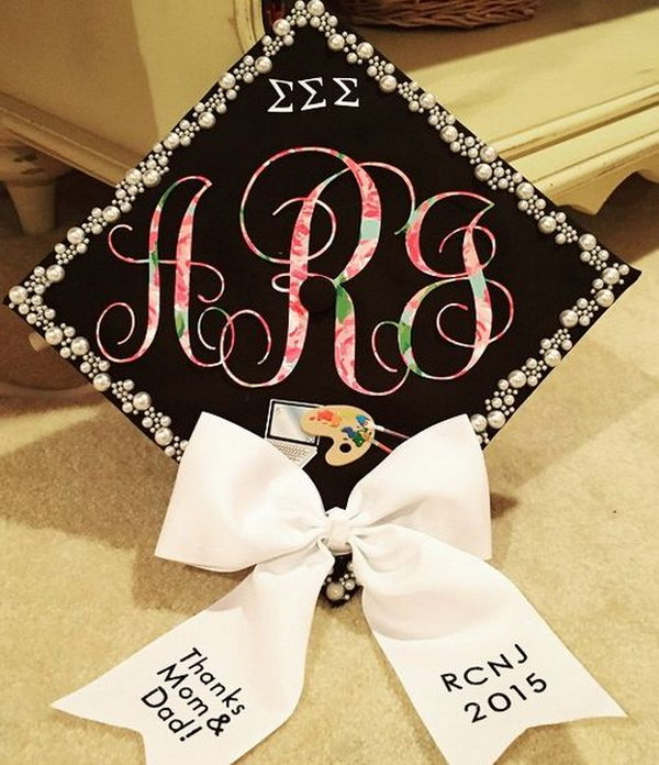 1 Lilly Pulitzer Grad Cap With A Bow