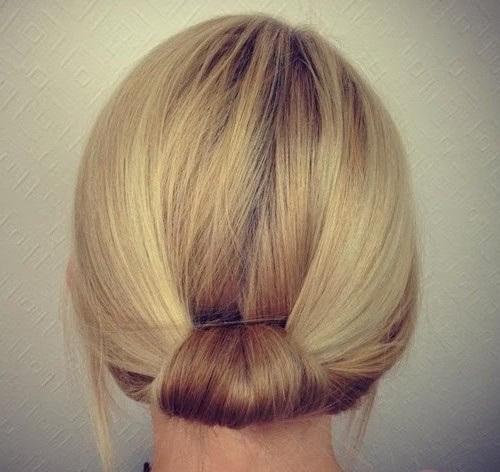 1 easy bridal updo for short hair