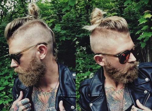 1 mens Mohawk for long hair