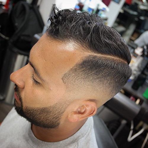 1 mens fade haircut with long top