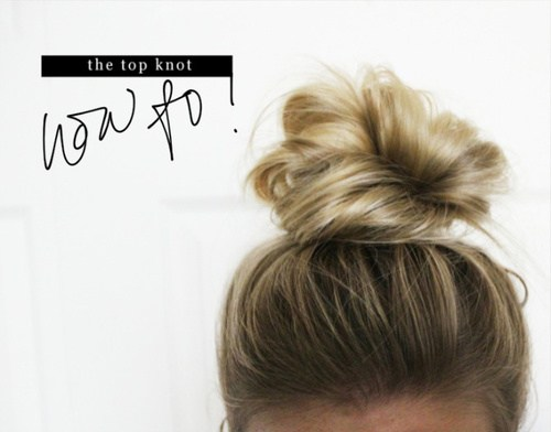 1 the messy top knot