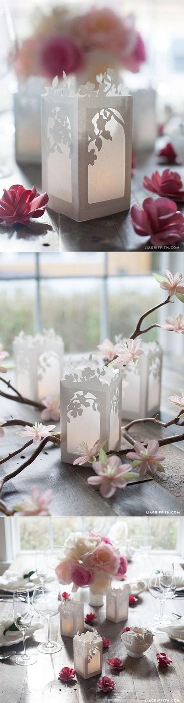 10 DIY Paper Lanterns Wedding Centerpieces
