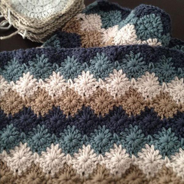 10 Harlequin Stitch Crochet Baby Blanket