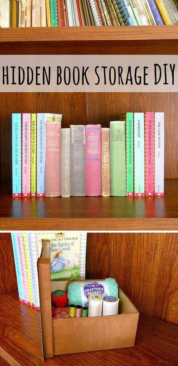 10 Hidden Book Storage Bin