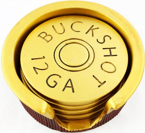 10 Shotgun Shell Coasters