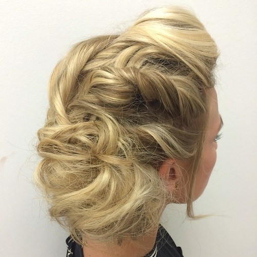 10 blonde tousled updo