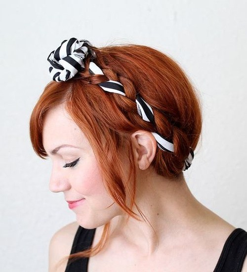 10 easy updo with fabric maiden braids