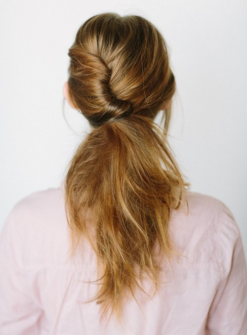 10 quick updo with a french roll ponytail